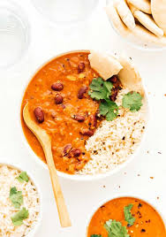 easy coconut kidney bean curry under