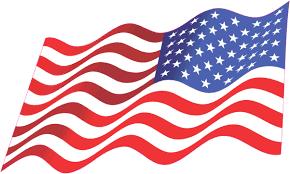 8in X 5in Mirrored Waving American Flag Sticker Vehicle Window Stickers Stickertalk