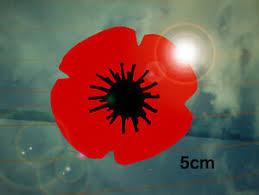 Remembrance Poppy Car Decal Sticker Small Ww2 Ww1 Lest We Forget Memorial Ebay