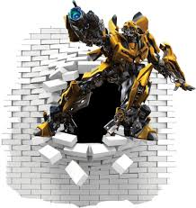 Bumblebee Transformers Wall Decal And Stickers Wall Decals Kid Room Decor Bedroom Decals