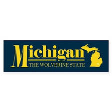 Michigan Native Bumper Stickers Cafepress