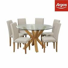 argos home alden glass round table and