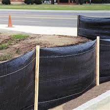 Erosion Control Silt Fence With Out Stakes