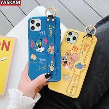 Ốp Lưng In Hình Mèo Và Chuột Mickey Có Dây Đeo Tay Cho Iphone 11/7 ...