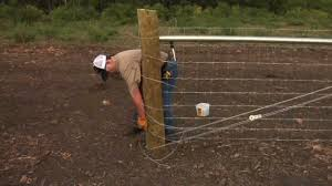 How To Build Your Fence Step 4 Tie The Wire Part 2 Youtube