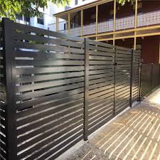 China Garden Aluminum Balcony Privacy Fence Profile Aluminium Horizontal Slat Fencing China Fence Fence Panel