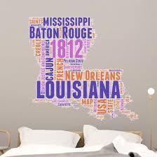 Louisiana Usa State Map Wall Decal Wallmonkeys Com