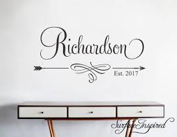 Wall Decals Quote Personalized Family Name Wall Decal Name Monogram Surface Inspired Home Decor Wall Decals Wall Art Wooden Letters