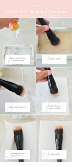clean your makeup brushes with water