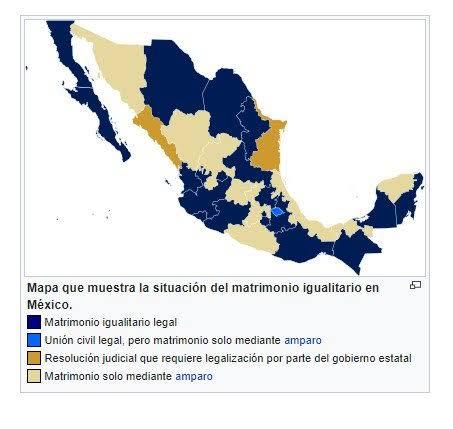 """Resultado de imagen de mapa de mexico matrimonio igualitario"""""""