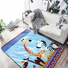 Cartoon Giraffe Carpets Kids Room Decor Children Play Mat Area Rugs Flannel Soft Animal Baby Crawling Living Room Carpet Carpet Aliexpress