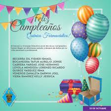 Felicidades Por Tu Cumpleanos Que Tus Colegio Quimico