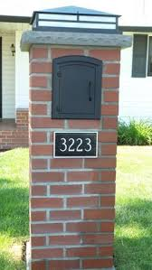 Image Result For Wrought Iron Post Boxes In Brick Fence Mailbox Design Brick Mailbox Brick Columns