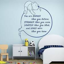 Oracal Classic Pooh Wall Decal Winnie The Pooh Wall Decal Quotes Tigger Once In Awhile
