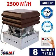 fireplace barbecue exhaust fan chimney