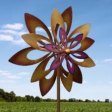 purple flower garden windmill