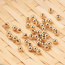 14k gold filled beads round smooth
