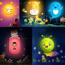 10 Styles Hot Selling 3d Cute Cartoon Led Wall Night Light Wall Sticker Light Control Wall Lamp Bedroom Home Decal Piece Specifications Price Quotation Ecvv Industrial Products