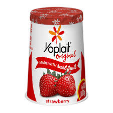 strawberry original yogurt with real