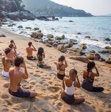 Sunset Mindfulness Meditation on the Beach with Adrian Baker – 6 June 2019  in the Vikasa Yoga Retreat in Koh Samui