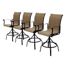 aluminum swivel patio bar height chairs
