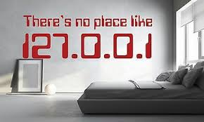 There S No Place Like 127 0 0 1 Wall Sticker Funny Geek Decal Vinyl Stencil Gift