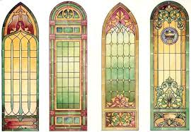 antique stained glass church window