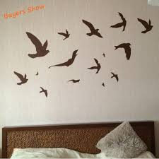 Removable Flying Birds Wall Stickers 12pcs Of Large Size Birds Art Vinyl Decals Modern Home Decor Free Shipping Bird Wall Sticker Wall Stickerhome Decor Aliexpress