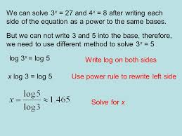 how do we solve exponential equations