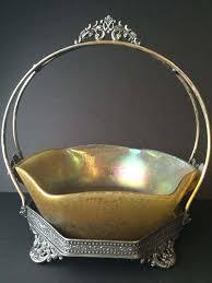 art glass centerpiece bowl signed loetz