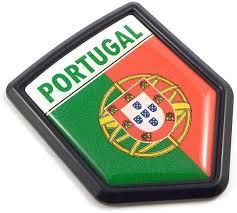 Portugal Portuguese Flag Black Shield Car Bike Decal Crest Etsy
