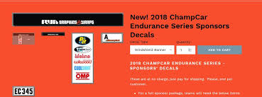 Decal Requirements General Discussion And Champcar Info Tirerack Com Champcar Endurance Series