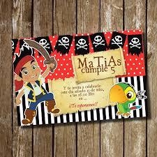 Kit Imprimible Tarjeta De Invitacion Cumpleanos Piratas Jack