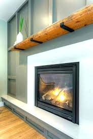 fake wooden beams for fireplace