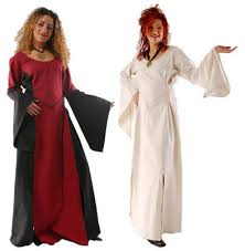 hippy dress meval pagan gothic full