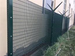 Green Anti Climb Fencing Anti Cut 358 Security Mesh Fencing For Border Military