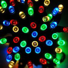 string fairy lights 100 multi colour