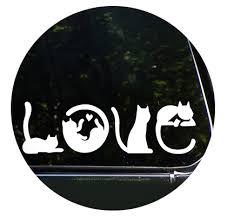 Cats Spell Love Car Vinyl Decal Sticker