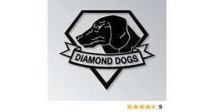 Amazon Com Metal Gear Solid Video Game Diamond Dog Logo Vinyl Stickers Symbol 5 5 Decorative Die Cut Decal For Cars Tablets Laptops Skateboard Black Computers Accessories