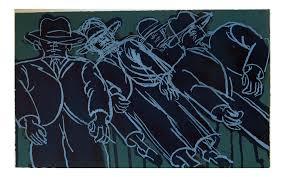 "Lester Johnson ""Dark Crowd"" Lithograph | Chairish"