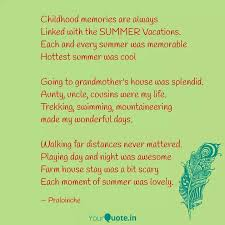 childhood memories are al quotes writings by prabhamani