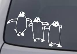 Penguin Vinyl Decal Sticker Car Window Wall Bumper Gentoo Bird Marching Cute
