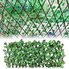 Amazon Com Binwe Artificial Ivy Privacy Fence Screen Wooden Retractable Garden Plant Fence Artificial Hedges Fence And Faux Ivy Vine Leaf Decoration For Outdoor Decor Garden Furniture Decor