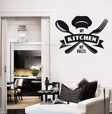 My Kitchen My Rules Cafe Wall Vinyl Decal Kitchen Tagline Restaurant Chief Motto Wall Decor Home Decoration Ll144 Leather Bag