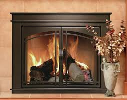 cabinet style steel fireplace doors