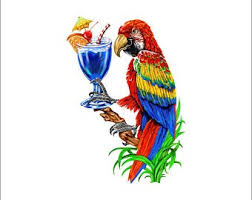 Parrot Decal Etsy
