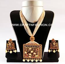 peacock shape pendant set one gram gold