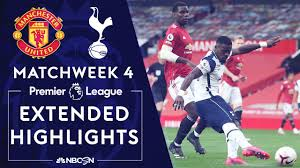 Manchester United v. Tottenham | PREMIER LEAGUE HIGHLIGHTS | 10/4/2020