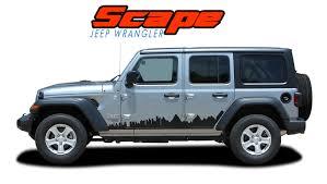Jeep Wrangler Body Decals Jeep Wrangler Door Stripes Scape
