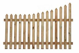 Curve Down Pointed Top Picket Fence Painted Options Available The Garden Trellis Company